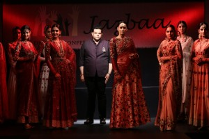 Ace Jewellery Designer Sumit Sawhney taking a bow.
