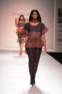 Peplum Top with Straight Pants, a tribal offer by Tanvi Kedia