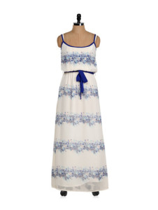 Blue & white dress by Eavan