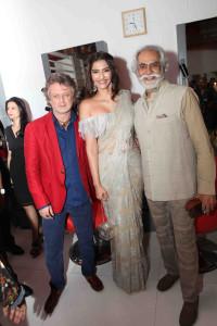Rohit Bal, Sonam Kapoor and Sunil Sethi