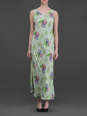 Floral pastel green dress by Eyelet