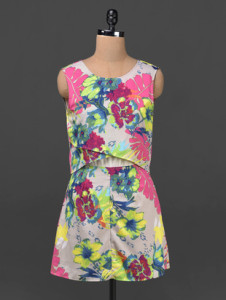 multicoloured dress by Ridress